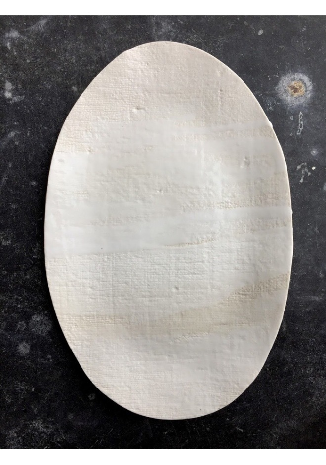 Elephant Ceramics: Large White Platter