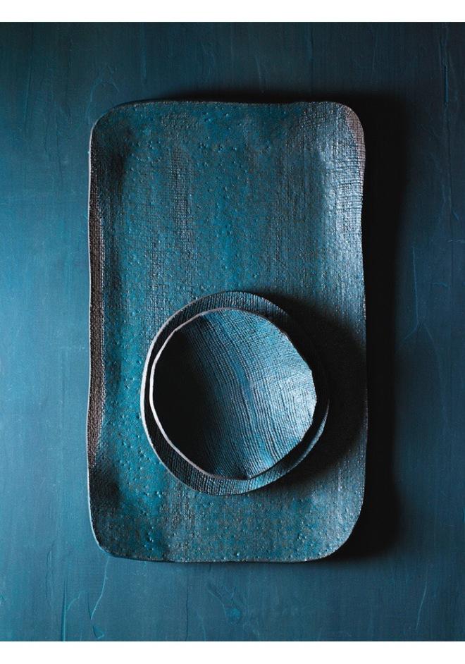 Elephant Ceramics: Square Platter, Round Bowls