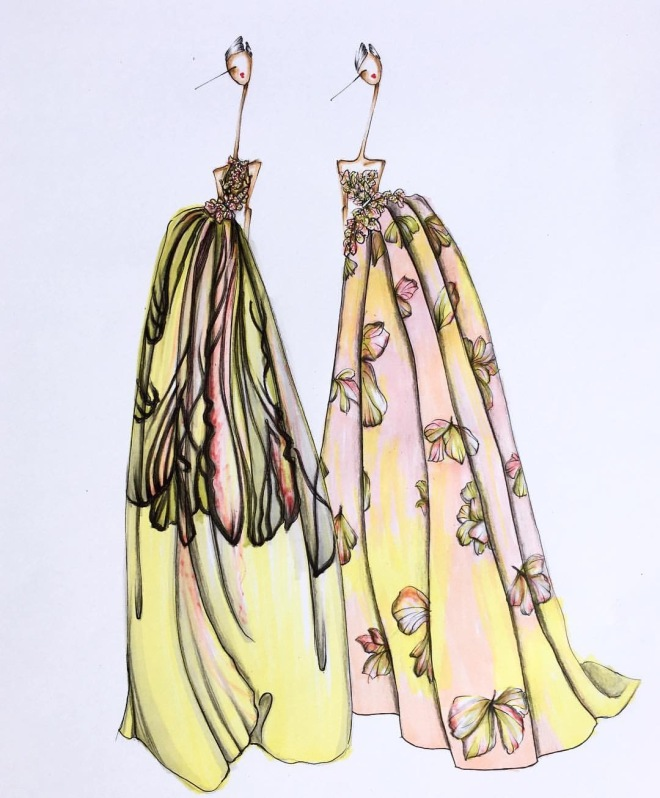 Illustrator: Sofie Nordstrom Elite Saab Couture