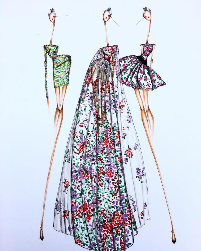 Illustrator: Sofie Nordstrom Giambattista Valle Couture