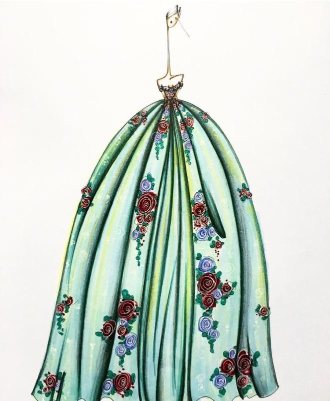 Illustrator: Sofie Nordstrom Fashion Sketch Haute Couture