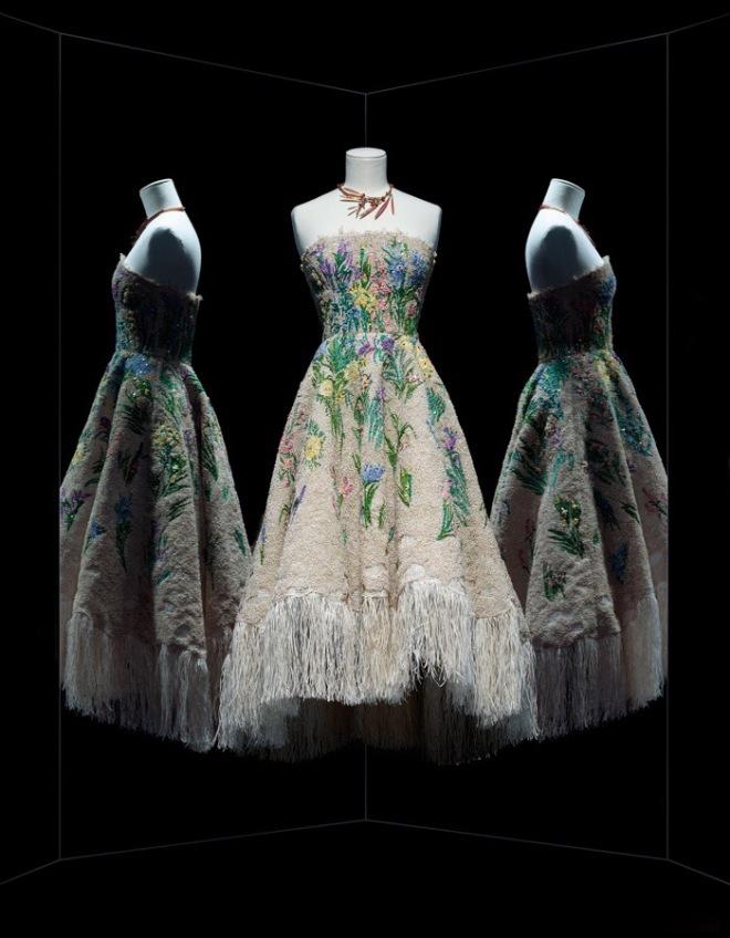 Photo Les Arts Décoratifs / Nicholas Alan Cope · Maria Grazia Chiuri for Christian Dior, Essence d'herbier cocktail dress, Haute Couture, Spring-Summer 2017