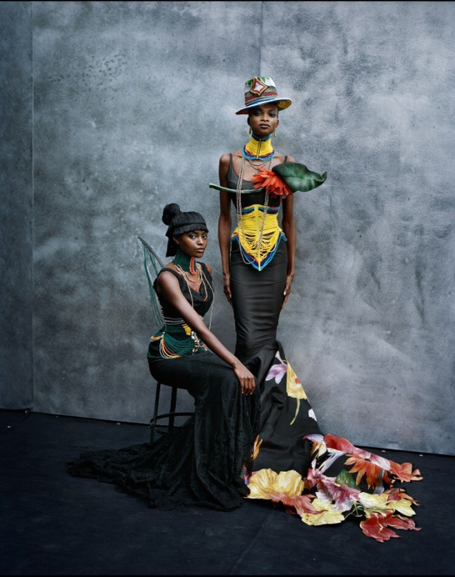 Kiara Kabukuru and Debra Shaw in Paris, la Couture Photographer: Peter Lindbergh Dresses: Christian Dior Haute Couture S/S 1997