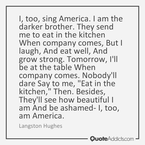 LangstonHughes Quote Beautiful Darkness