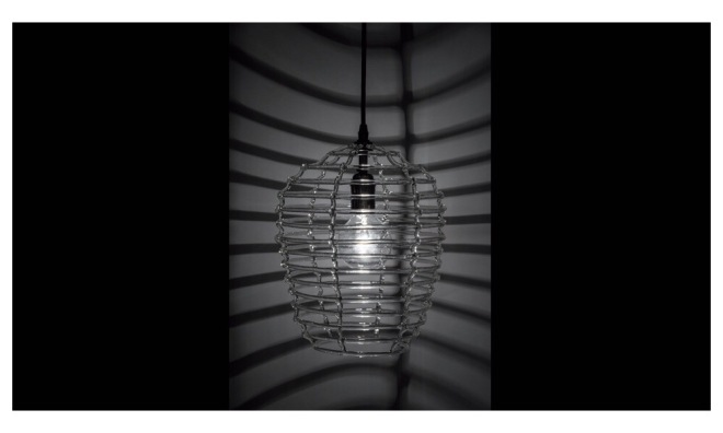 Alison Berger Cage Pendant, Night.