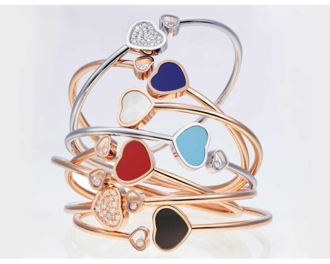 Multiple Happy Hearts Bangles from Chopard