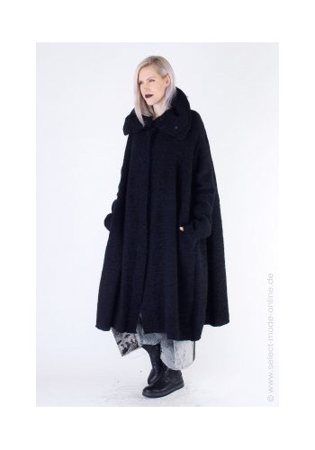 Rundholz Cozy Coat Black at SelectModeOnline