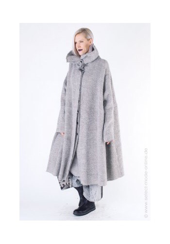Rundholz Cozy Coat Grey, at SelectModeOnline