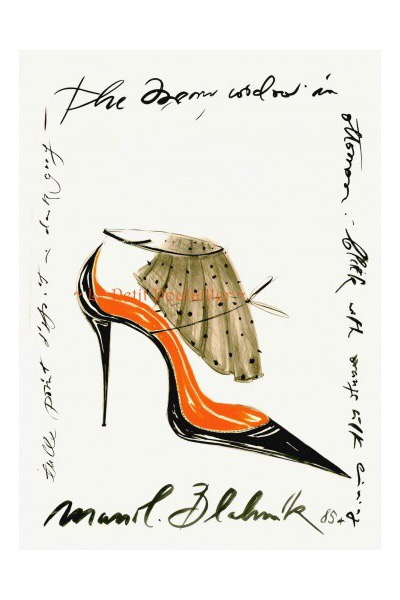 Illustration by Manolo Blahnik