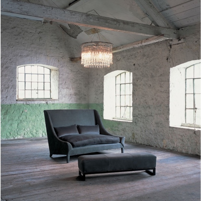 Ochre Snooze Small Sofa & Ottoman