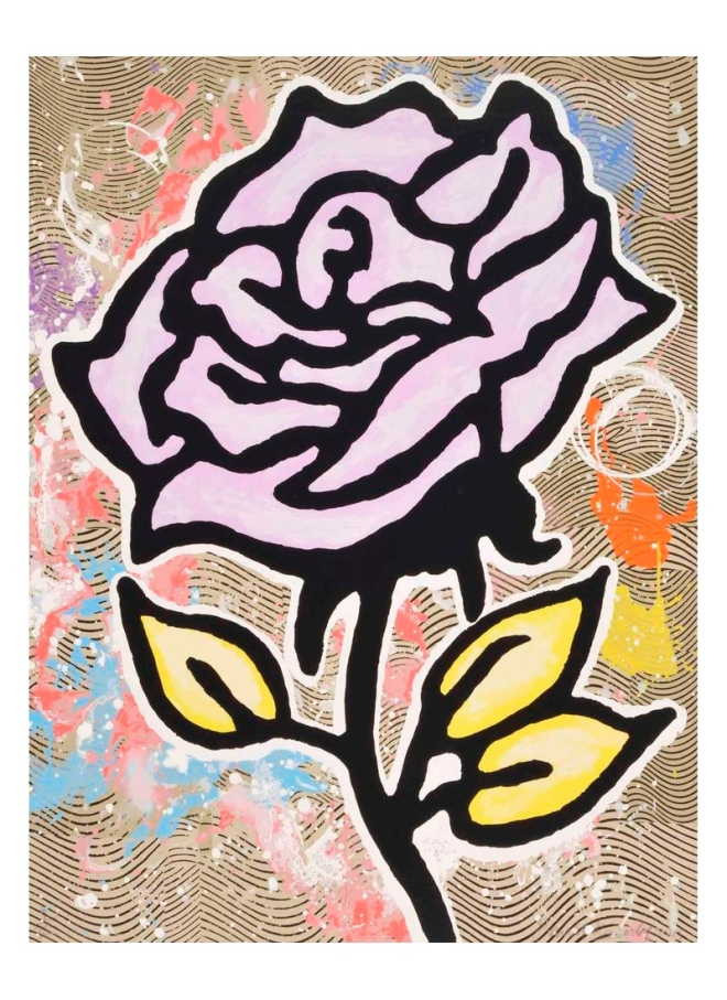 Donald Baechler: Violet Rose, Print Available at Weng Contemporary.