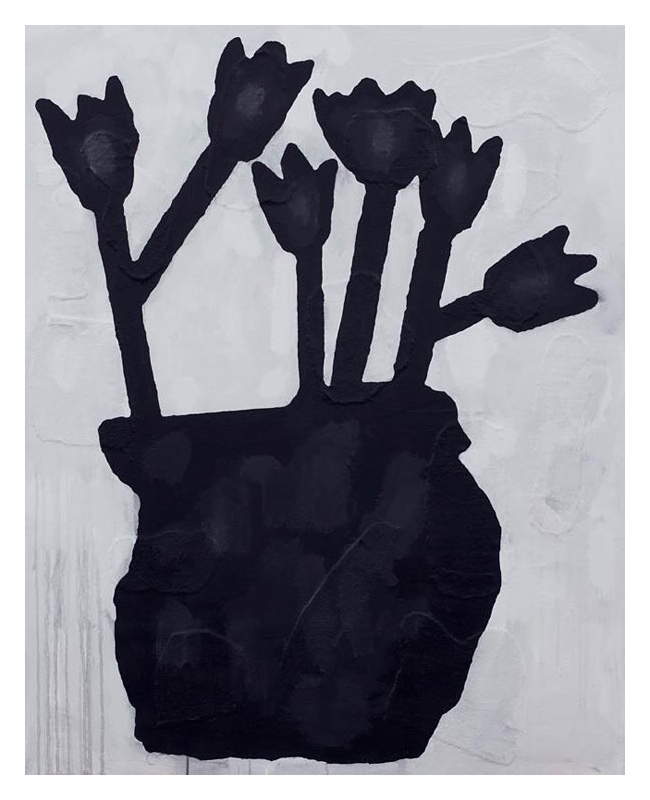 Donald Baechler: Black Flowers 2012