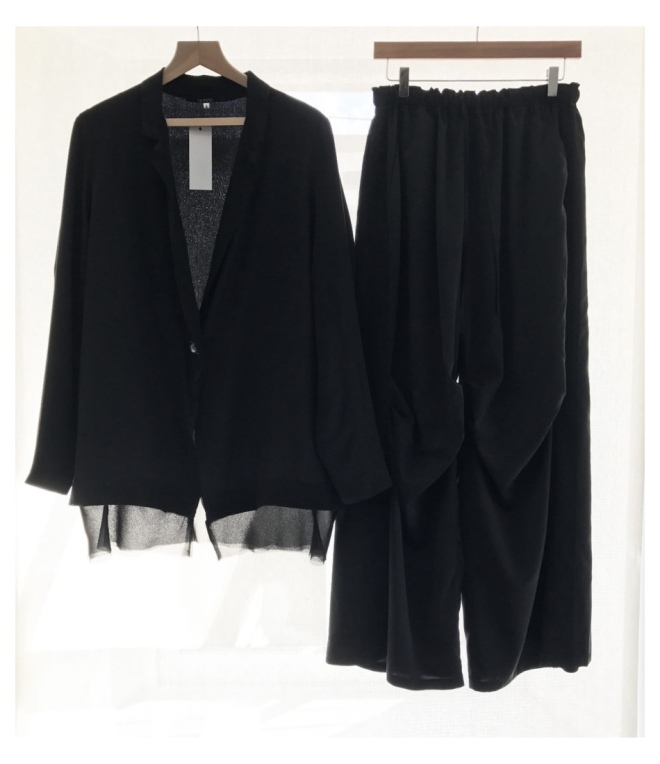 Nomad Atelier Silk Tuxedo Jacket & Cargo Pant Ensemble