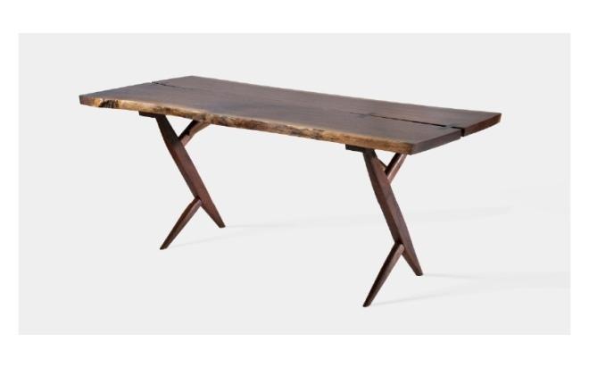 George Nakashima Double Cross-Leg Desk