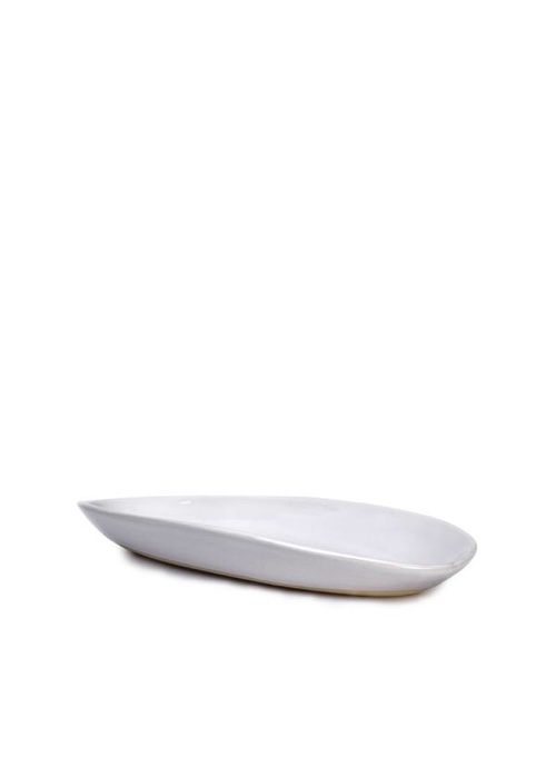 Summerill & Bishop Wonki Ware Small Bamboo Platter in White, 35cm