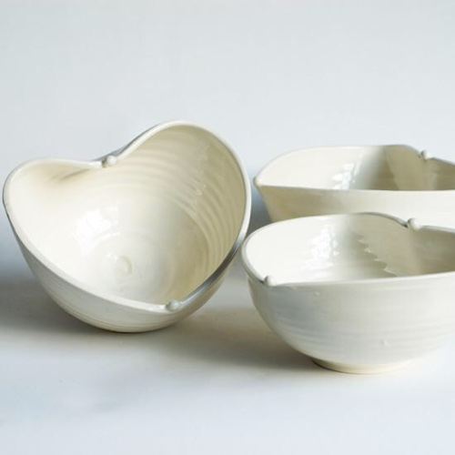 Frances Palmer Pottery Heart Bowls