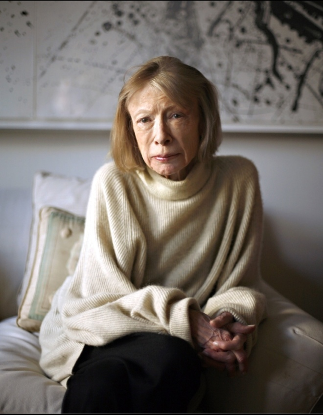 January 2007: Joan Didion in her New York City apartment.