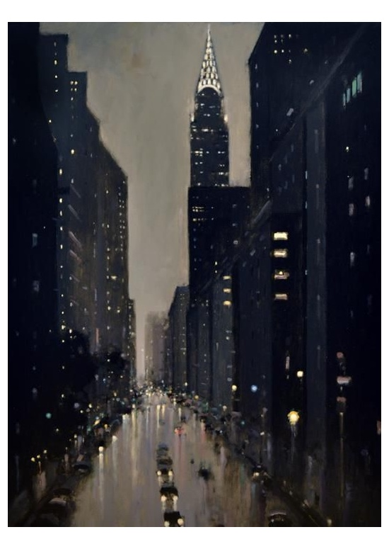 Geoffrey Johnson, View from Tudor City Place. Image rights: Principle Gallery.