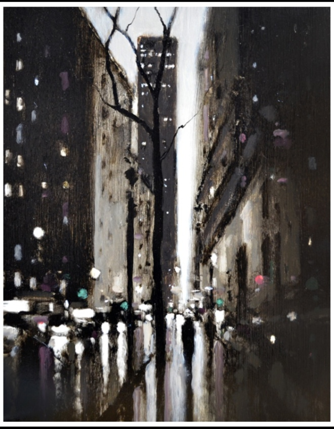Geoffrey Johnson, Fifth Ave. Evening. Image rights: Principle Gallery.