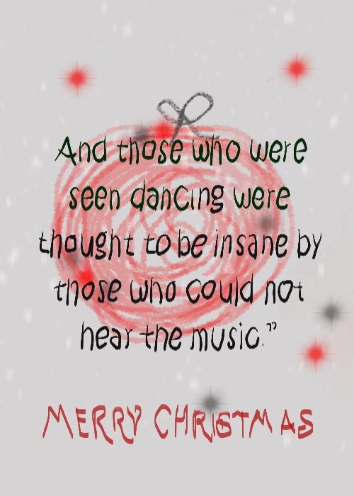 Elle illustrates on Plus Black blog: Merry Christmas 2017. Quote: Friedrich Nietzsche.