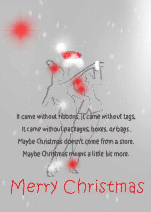 Elle illustrates on Plus Black blog: Merry Christmas 2017. Film Quote: How The Grinch Stole Christmas.