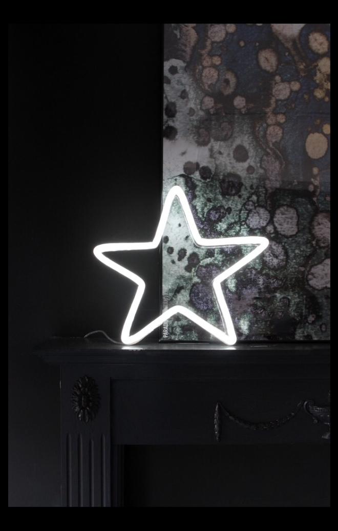 LED Neon White Star from Rockett St George, £195