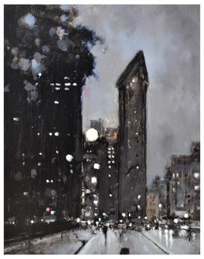 Geoffrey Johnson, Flatiron Evening. Image rights: Principle Gallery.