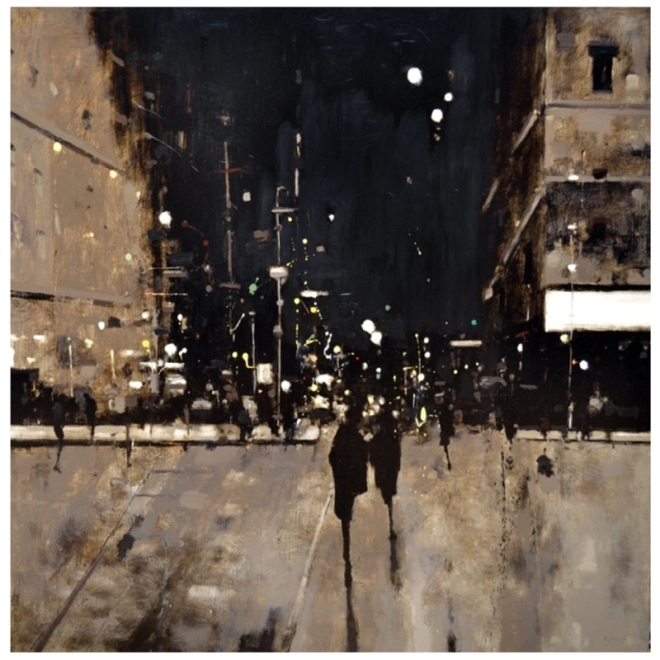 Geoffrey Johnson, City Night Crossing II. Image rights: Principle Gallery.