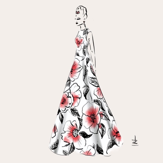 Instagram Illustrator: @lindazoon Inspired by: Valentino Spring 2018 Couture