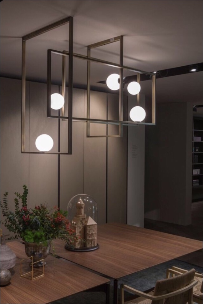 Venice M: Mondrian Glass Ceiling Light