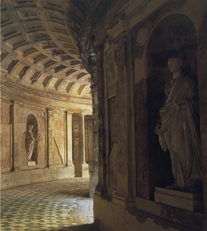 A view of The Cryptoporticus, Reggio di Caserta