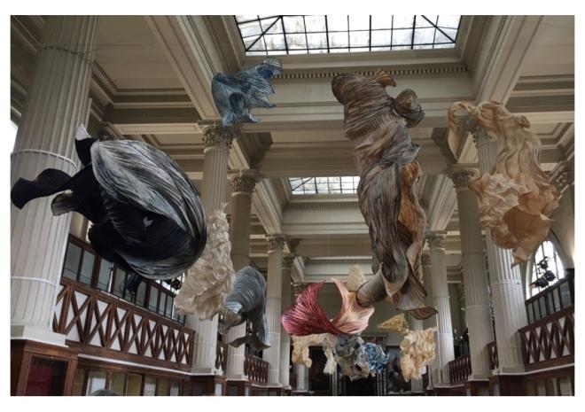 Peter Gentenaar Paper Sculptures for Iris van Herpen Couture collection, titled 'Ludi Naturae', January 22nd, 2018, at the Galerie de Mineralogie et de Geologie, in Paris
