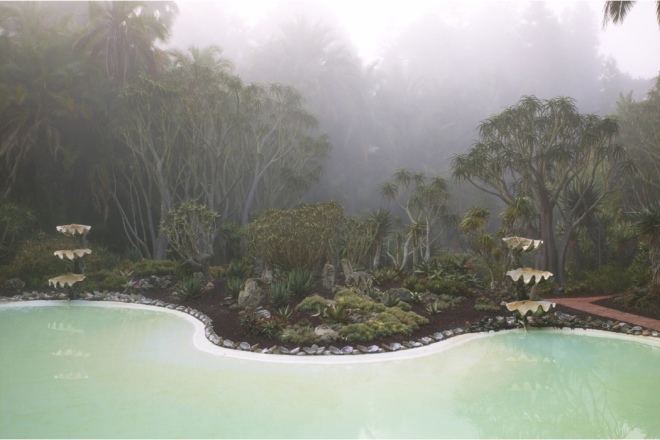 Book: Dreamscapes with Photography by Claire Takacs. Beautiful sea-green, former swimming, pool.