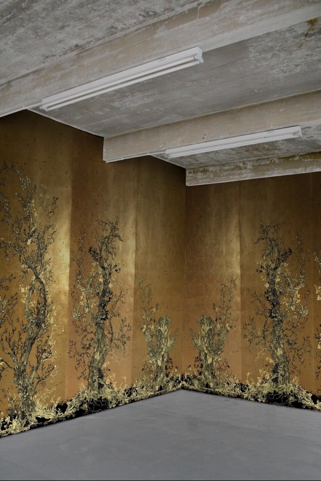 Timorous Beasties: Golden Oriole Wallpaper Panels