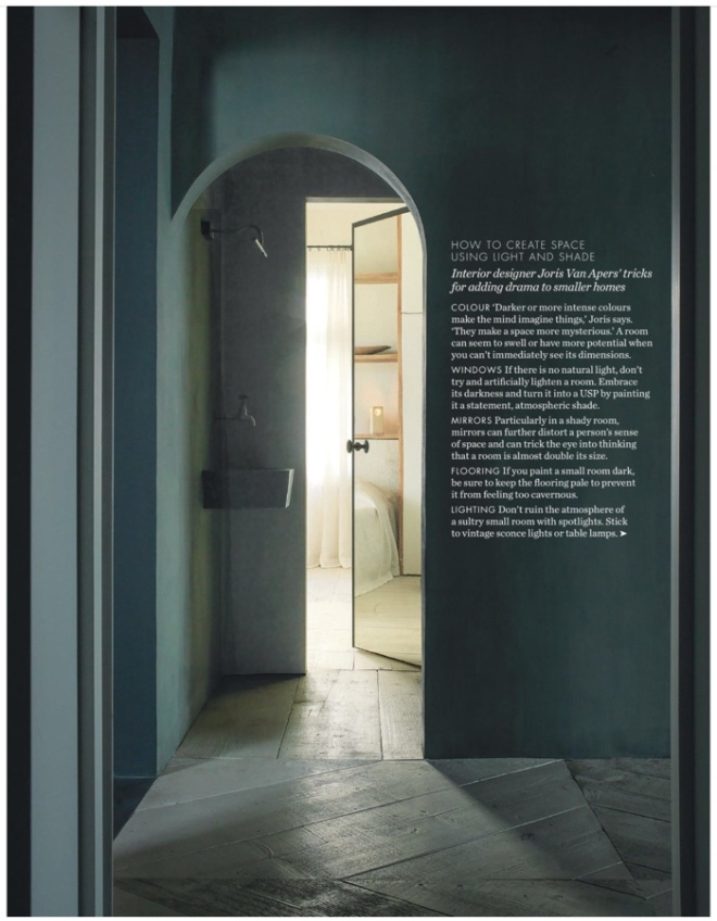 Interior Design by Joris Van Apers. Image seen in Elle Decoration UK, March 2018.