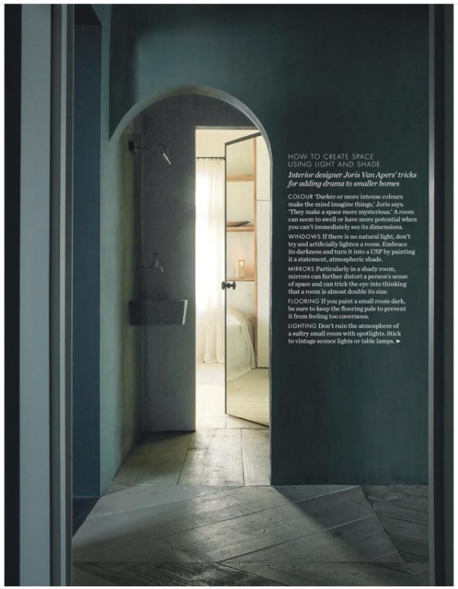 Interior Design by Joris Van Apers. Image seen in Elle Decoration UK, March 2018.