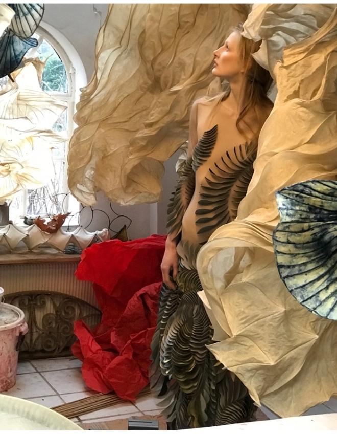 From Iris Van Herpen Pre Show Studio Photo Shoot