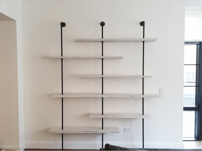 Hover Shelving Unit - Whitewashed - by Coil + Drift. Image courtesy: Coil + Drift
