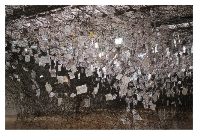 Chiharu Shiota: Letters of Thanks, 2013. Courtesy of the Artist.
