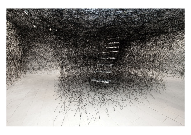 Chiharu Shiota: installation Stairway, 2012. Courtesy of the artist.