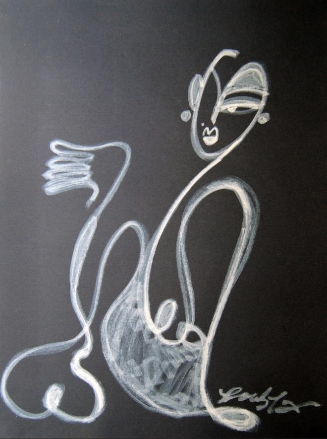 Jocelyn Teng: Untitled Acrylic Paint on black paper All images © Jocelyn Teng