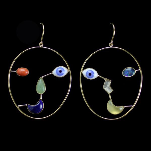 Grainne Morton: Face Earrings
