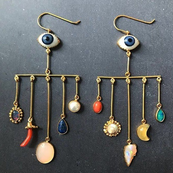 Grainne Morton: Eye Peeper Drop Earrings