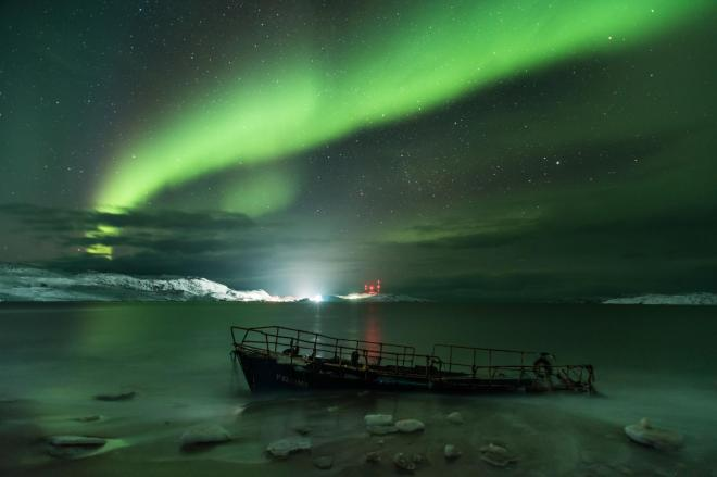 Aurora Borealis seen above the Barents Sea off the coast of Russia MICHAEL ZAV'YALOV/ROYAL OBSERVATORY INSIGHT INVESTMENT ASTRONOMY PHOTOGRAPHER OF THE YEAR