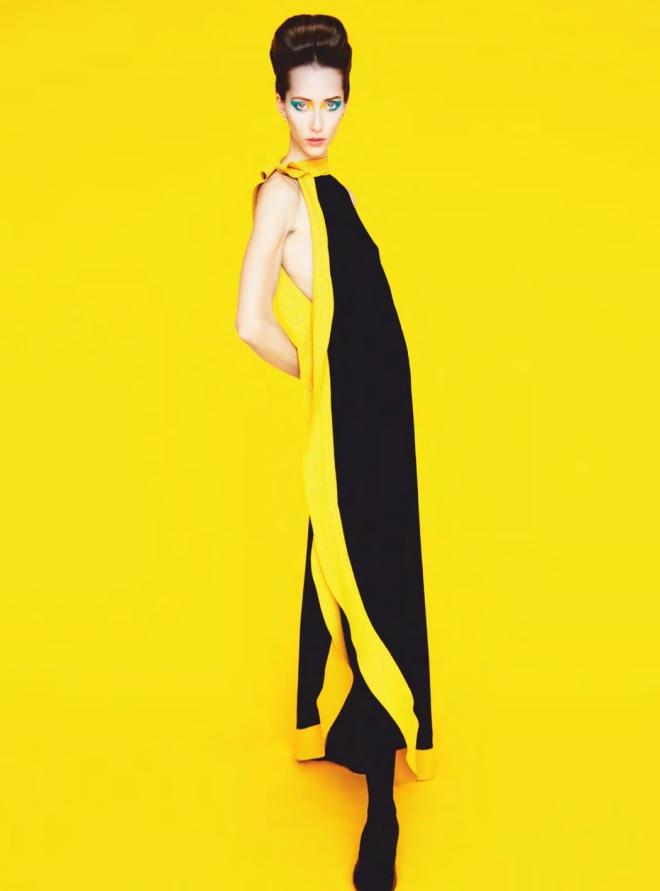 Givenchy (Dress), Erik Madigan Heck (Photographer) for Harper's Bazaar UK March 2019