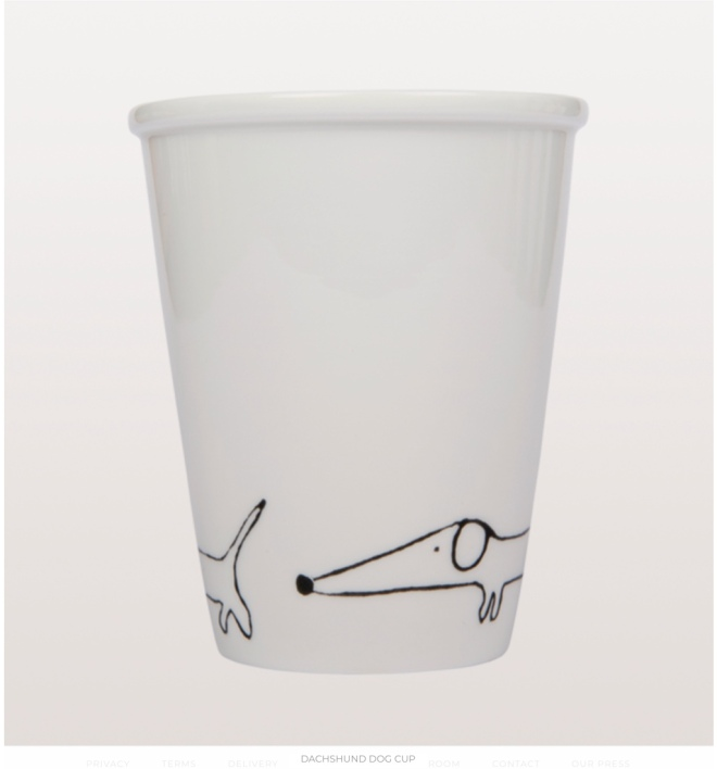 From W.A.Green: Dachshund Dog Cup
