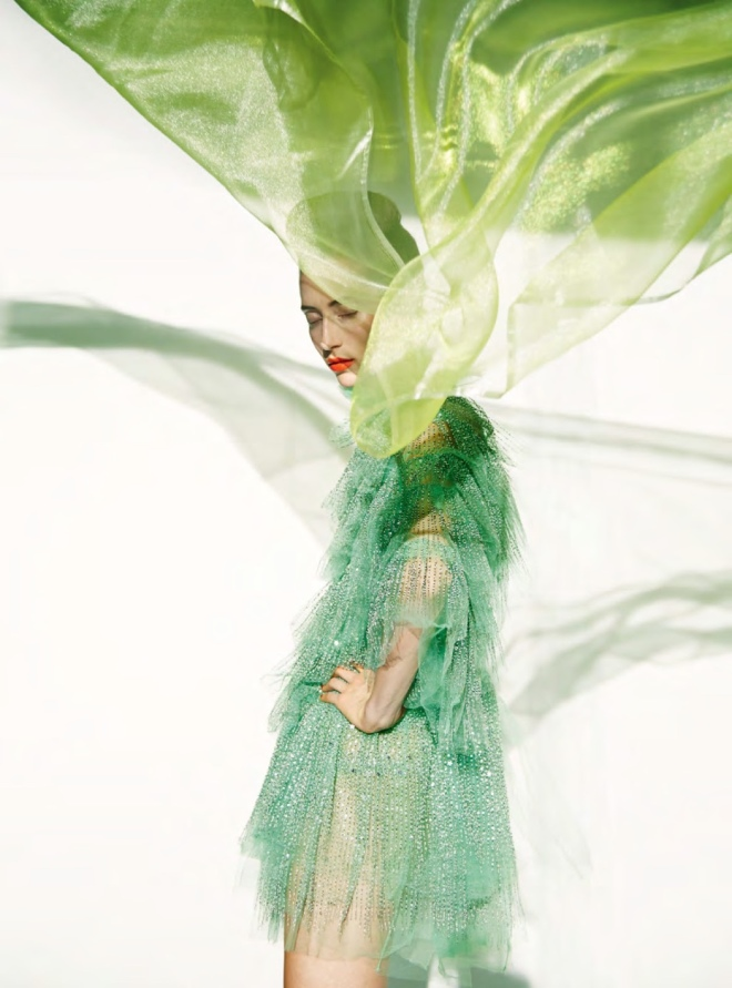 Valentino (Dress), Erik Madigan Heck (Photographer) for Harper's Bazaar UK March 2019