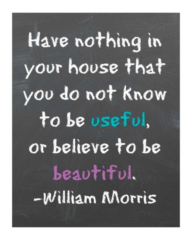 William Morris quote on useful or beautiful