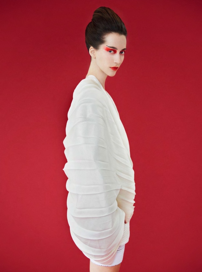Balmain (Dress), Erik Madigan Heck (Photographer) for Harper's Bazaar UK March 2019