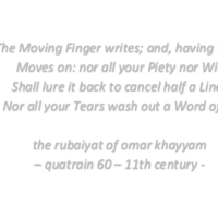 Quote: The Moving Finger writes ...